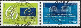 2009 Frankreich Europarat Mi. 65-6**MNH   60 Jahre Europarat. 50 Jahre Europäischer Gerichtshof Für Menschenrechte - Europäischer Gedanke