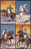 5 X ALTE KARTE ANTONIO DONADINI DRESDEN - ** ARABIAN WARRIORS - ARABISCHE KRIEGER ** - SELTEN ! - Donadini, Antonio