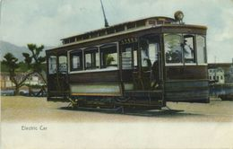 China, HONG KONG, Electric Street Car, Tram (1910s) Sternberg Postcard - China (Hong Kong)