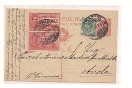 2302) 1919 INTERO POSTALE 10C LEONI MILLESIMO 18 + ESPRESSO 25CX2 TRAPANI AVOLA - Interi Postali