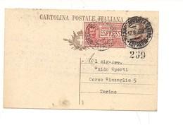 2305) 1926 INTERO POSTALE 40C MICHETTI + ESPRESSO 70C  MILANO TORINO - Interi Postali
