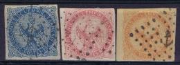 Colonies Générales: Yv Nr  4 - 6 Obl./Gestempelt/used   Cachet  Ancre - Aigle Impérial