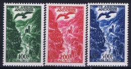 Andorra : Yv Nr 2 - 4 MH/* Flz/ Charniere - Poste Aérienne