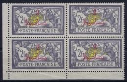 Maroc  Yv   52b Surcharge Protectorate Absente Coin De Feuille  Postfrisch/neuf Sans Charniere /MNH/** - Maroc (1891-1956)