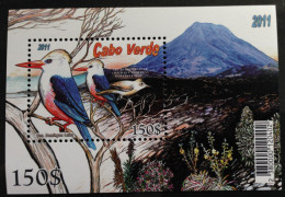 Cabo Verde 2011 - Cha Das Caldeiras Ilha Do Fogo Oiseau Bird Vogel Birds Oiseaux Sheet Block Bloc MNH - Cap Vert