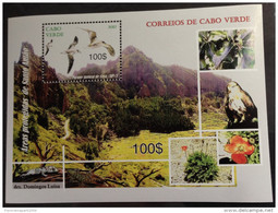 Cabo Verde 2012 - Areas Protegidas De Santo Antao Birds Of Prey Raubvögel Rapaces Oiseaux Vögel Sheet Block Bloc MNH - Cap Vert