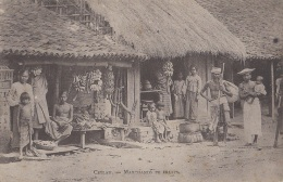 Commerces - Marchand De Fruits - Bananes Régimes - Ceylan Ceylon - Mercanti