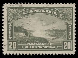 Canada Scott # 225, 20¢ Olive Green (1935) Niagara Falls, Used - 1911-1935 Reign Of George V