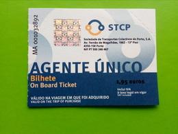 Bus Ticket,Porto,Portugal - Bus