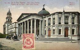 Mexico, SAN LUIS POTOSI, De La Paz Theatre (1923) Postcard - México
