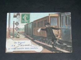 JARNAC  1910   /    TRAIN  SALUT   .....   EDITEUR - Jarnac