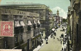 Mexico, MEXICO, Avenida De San Francisco (1923) Postcard - Mexique