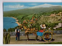"U2788 Cartolina ""Carretto Siciliano"" -Charlot, Cart, Karren, Falk, Falklore _ Gm Natural Colours 3633/38 _ NN CIRC. - Costumes"