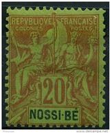 Nossi Bé (1894) N 33 * (charniere) - Nossi-Bé (1889-1901)