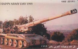 JORDAN - Army Day 1999 ,Chip:Siemens  S35, Tirage 150.000, 06/99, Used - Jordan