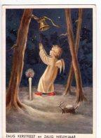 U2795/6 POSTCARD: ZALIG KERSTFEEST En ZALIG NIEUWJAAR - Illustration Or Painting - Angeli