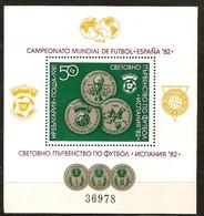 Bulgarie Bulgaria 1981  Yvertn° Bloc 98A *** MNH Cote 40 Euro Sport Coup Du Monde Football Espagne Espana - Blocs-feuillets