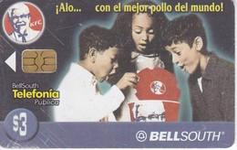 TARJETA DE ECUADOR DE BELLSOUTH DE $3  DE KENTUCKY FRIED CHICKEN - Ecuador