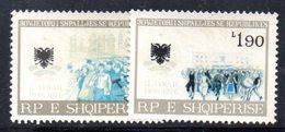 410 - 490 - ALBANIA 1976 , Yvert N. 1642/1643  *** MNH  Serie Con Bella Varietà Priva Di Alcuni Colori - Albania