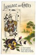 LANGAGE DES CARTES - Roi De Trèfle - Rex 1820 - Cartes à Jouer