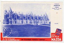 Juin18   81860     Buvard     Pile Mazda  Chateau De Josselin - Shoes