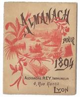 ALMANACH Pour 1894 - LYON Calendrie - New Year