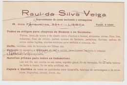 Calendar (14x9cm) * Portugal * Lisboa * 1934 * Raul Da Silva Veiga * Holed - Kalenders