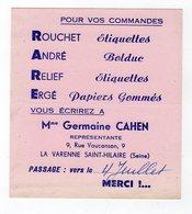 Juin18   81846    Buvard   Papeterie    Germaine Cahen    La Varenne St Hilaire - Stationeries (flat Articles)