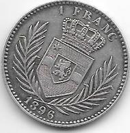 *Belgian Congo 1 Franc 1896 Km 6 - Congo (Belgian) & Ruanda-Urundi