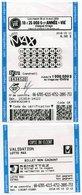 1 JEU LOTO  Lotoquebec CANADA - Billets De Loterie