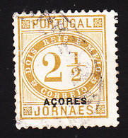 Azores, Scott #P4, Used, Newspaper Stamp Overprinted, Issued 1876 - Açores