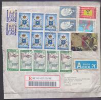 BELGIUM Postal History Foam COVER, Registered 2014 - Covers & Documents