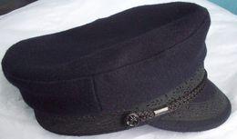 Skipper Cap Dark Blue Wool Cloth - Royal Navy IMPER - Size 55 - Casques & Coiffures