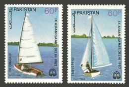 PAKISTAN 1983 SPORTS ASIAN GAMES YACHTS YACHTING SHIPS SET MNH - Pakistan