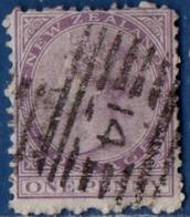 "New Zealand 1874 1d Violet Perf 12 1 Value Cancelled ""14"" - Usados"