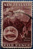 New Zealand 1898  5 P Erf 14,  Cancelled - 1855-1907 Crown Colony