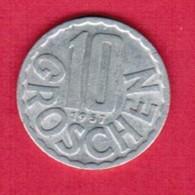 AUSTRIA   10 GROSCHEN 1957 (KM # 2878) #5136 - Austria