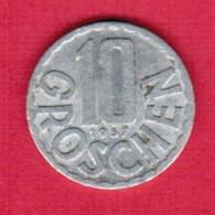 AUSTRIA   10 GROSCHEN 1957 (KM # 2878) #5137 - Austria