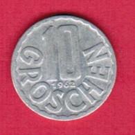 AUSTRIA   10 GROSCHEN 1962 (KM # 2878) #5139 - Austria