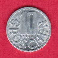 AUSTRIA   10 GROSCHEN 1964 (KM # 2878) #5141 - Austria