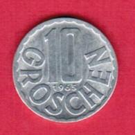 AUSTRIA   10 GROSCHEN 1965 (KM # 2878) #5142 - Austria