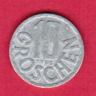 AUSTRIA   10 GROSCHEN 1965 (KM # 2878) #5143 - Austria