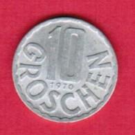 AUSTRIA   10 GROSCHEN 1970 (KM # 2878) #5149 - Austria