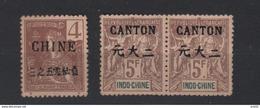 1900/1903  INDOCHINA FRANCE 3 ZEGEL MET OPDRUK  GEGOMD - Nuovi