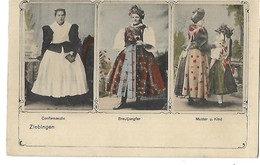 ZIEBINGEN CYBINKA COSTUMES LOCAUX FEMMES EN ROBE 1912 CPA 2 SCANS - Polen