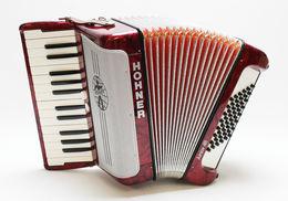 Handzuginstrument / Akkordeon - Hohner Junior 48 Rot (Seriennummer 734397) Made In Germany - Musical Instruments