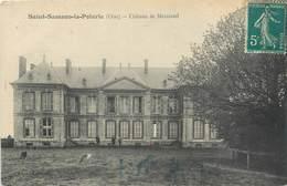 """CPA FRANCE 60 """"Saint Samson La Poterie, Château De Mercastel"""" - France"""
