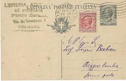 5-BOLOGNA-LIBRERIA ANTIQUARIA-CARD POSTALE-1920 - Bologna