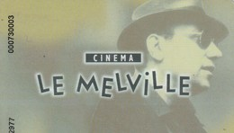 CARTE CINEMA   LE MELVILLE..ROUEN  10 ENTREES  50E - Frankrijk
