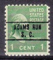 USA Precancel Vorausentwertung Preo, Locals South Carolina, Adams Run 748 - Vorausentwertungen